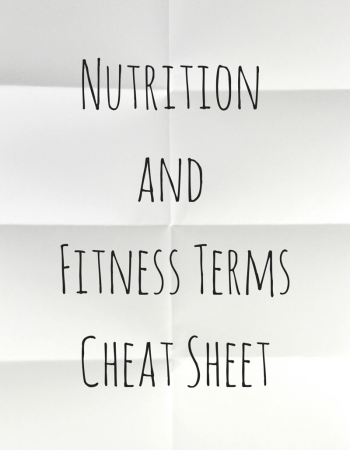 Nutrition and Fitness Terms Cheat Sheet