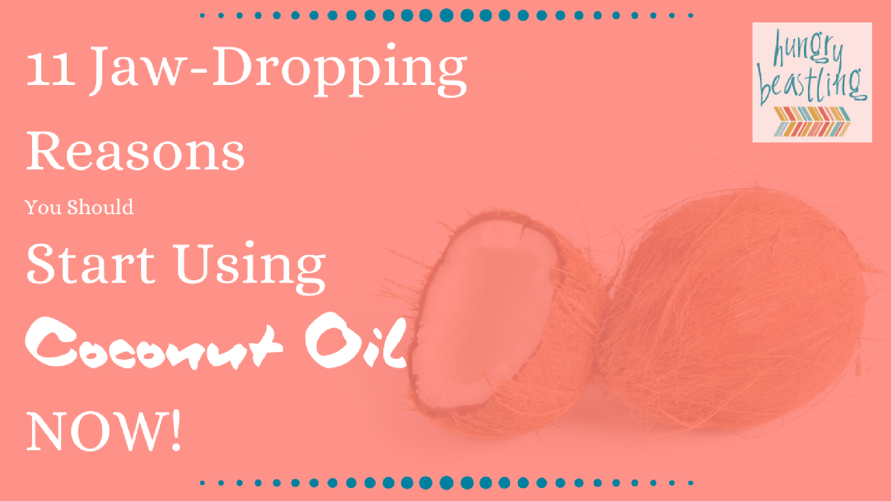 11 Jaw-Dropping Reasons You Should Start Using Coconut Oil Now - Coconut oil is notorious for being about 90% saturated fat. However, we're now finding out not all saturated fats are bad! In fact, the benefits are amazing!| Hungry Beastling